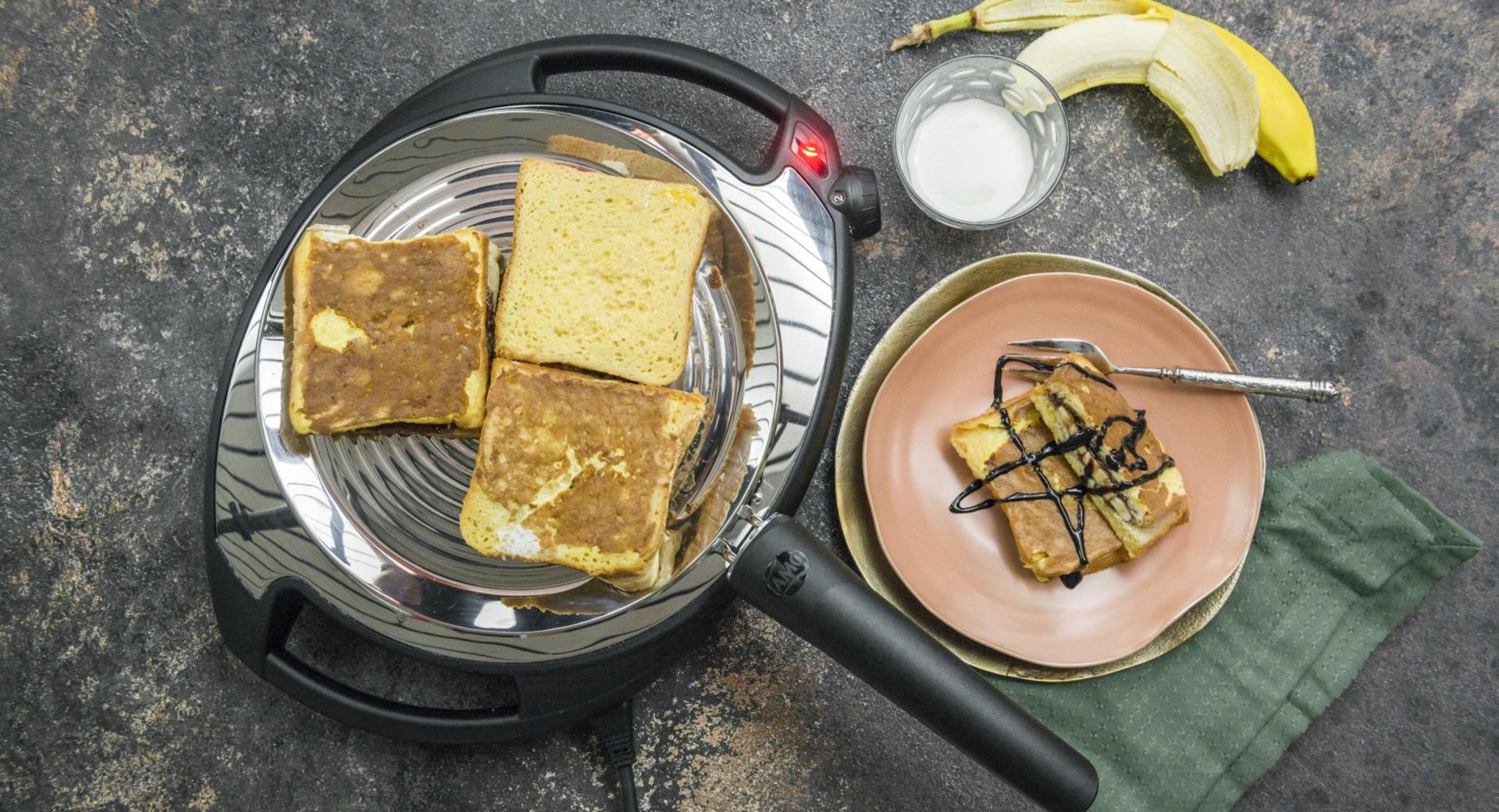 French Toast mit Schokocreme und Banane