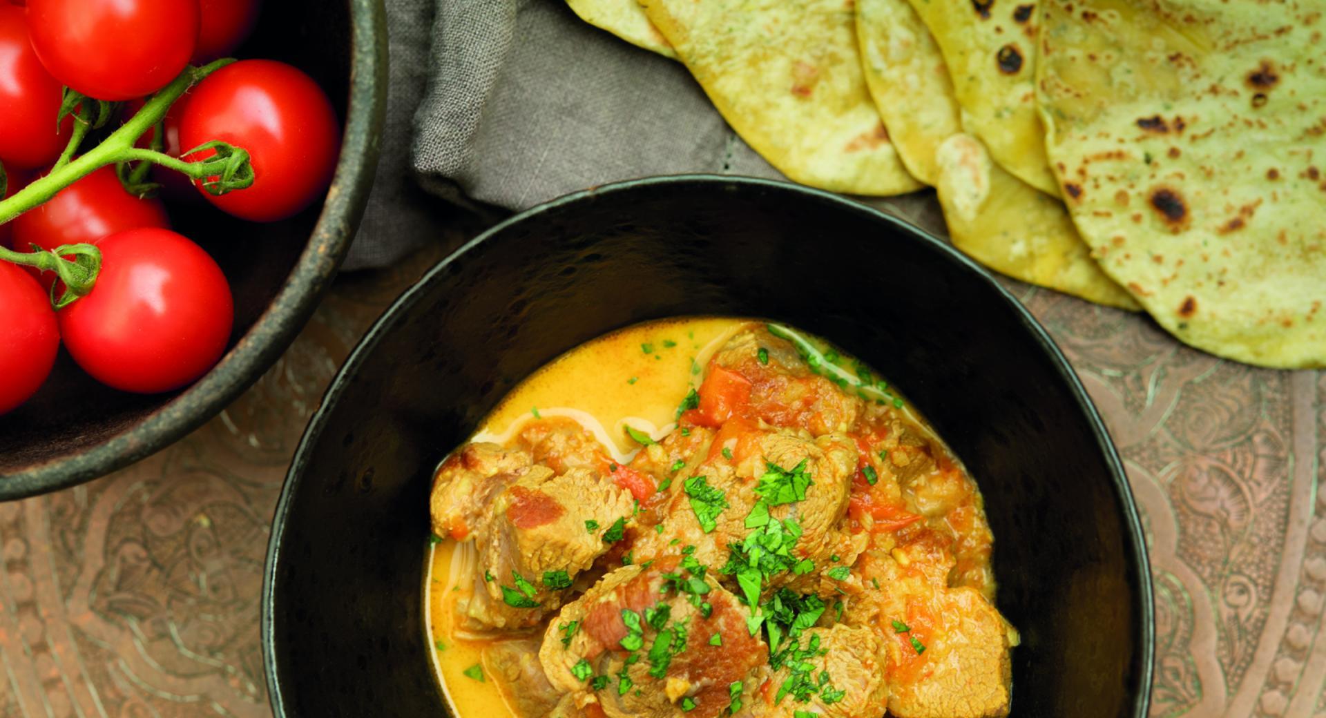 Lamm-Curry mit Chapati