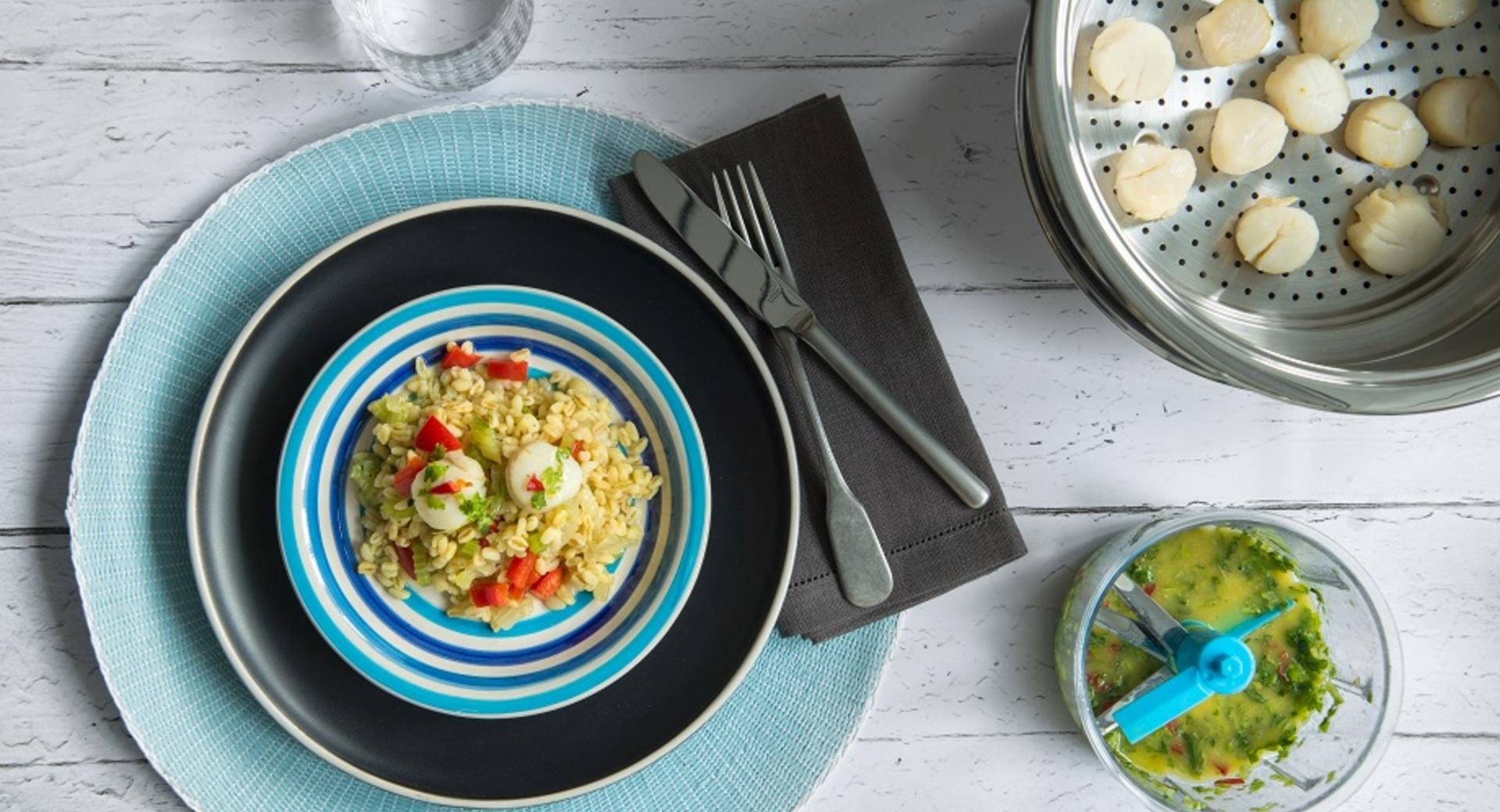 Mediterraner Salat mit Jakobsmuscheln