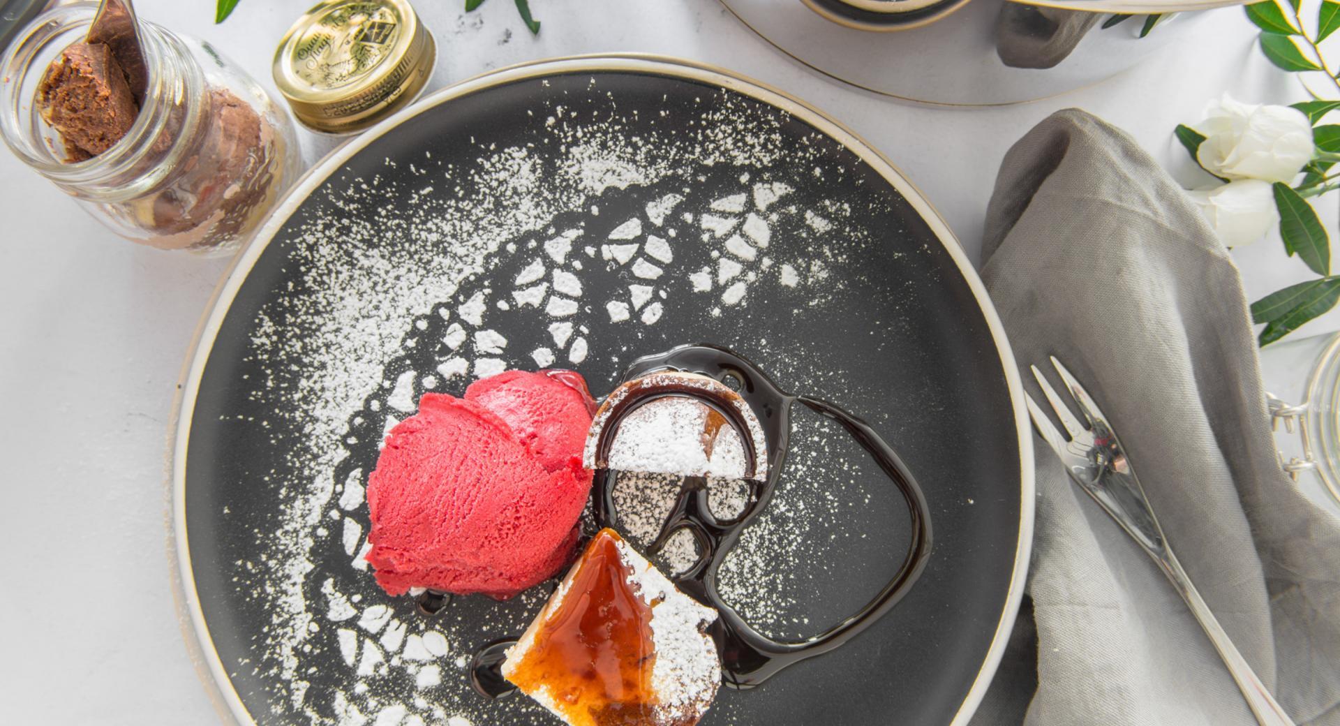 Marmorkuchen aus dem Glas