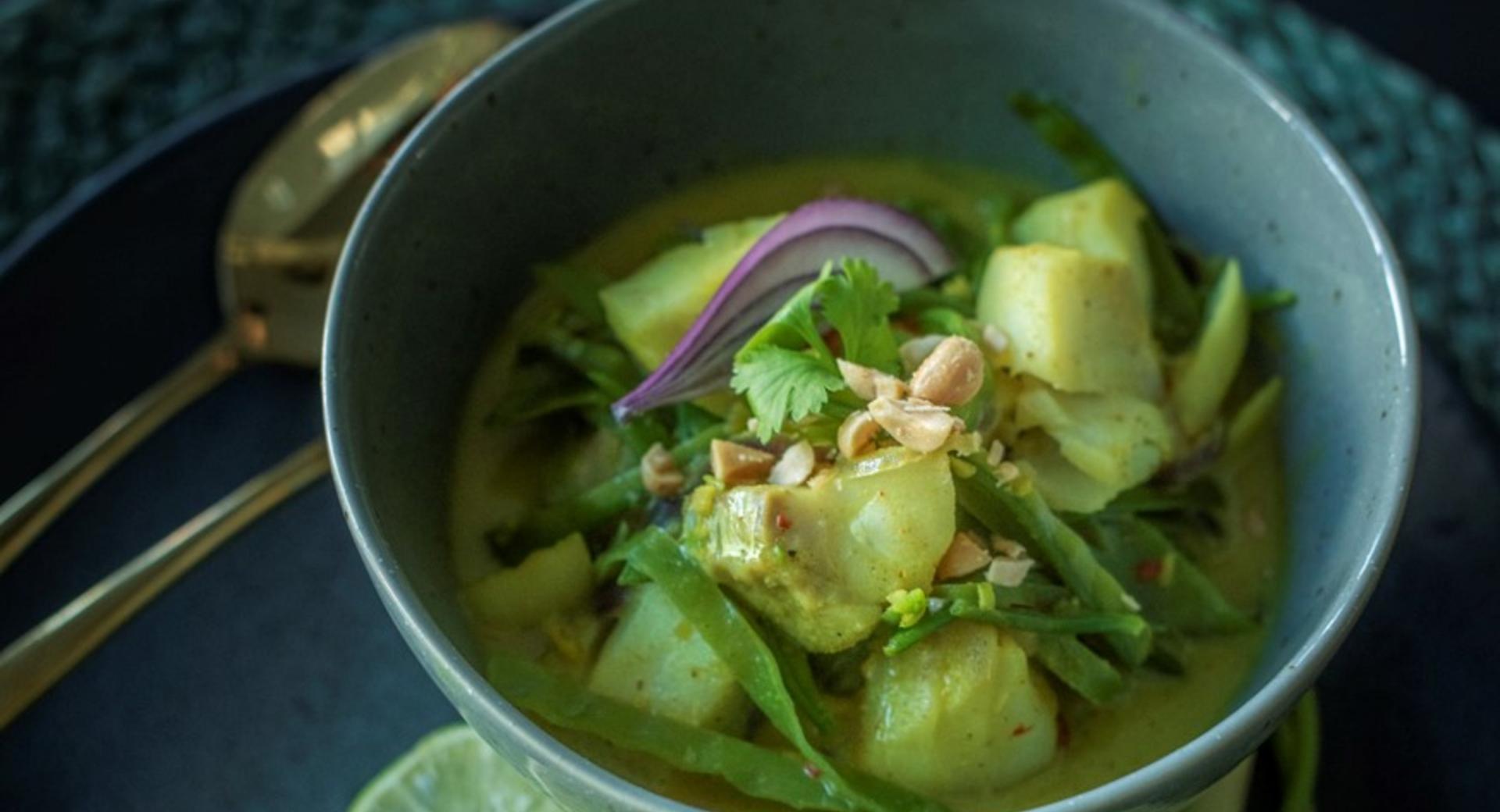 Exotisches Fisch-Curry
