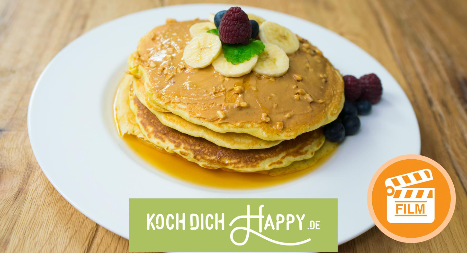 VIDEO! Saftige Pancakes mit Banane