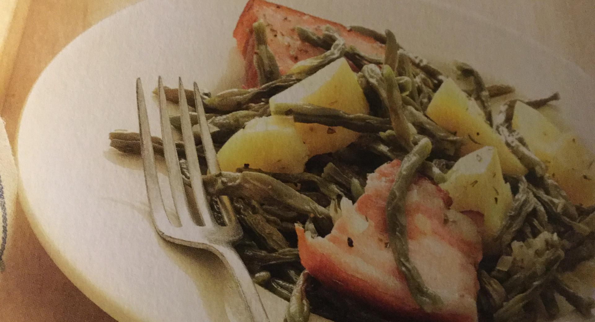 Grossi's Dörrbohnen mit Speck und Kartoffeln