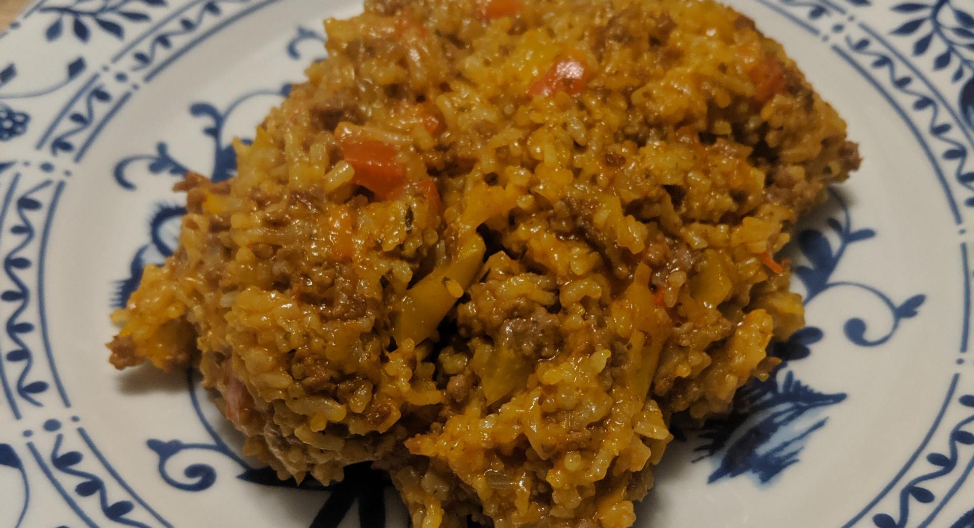 Reis - Hackfleisch  Topf