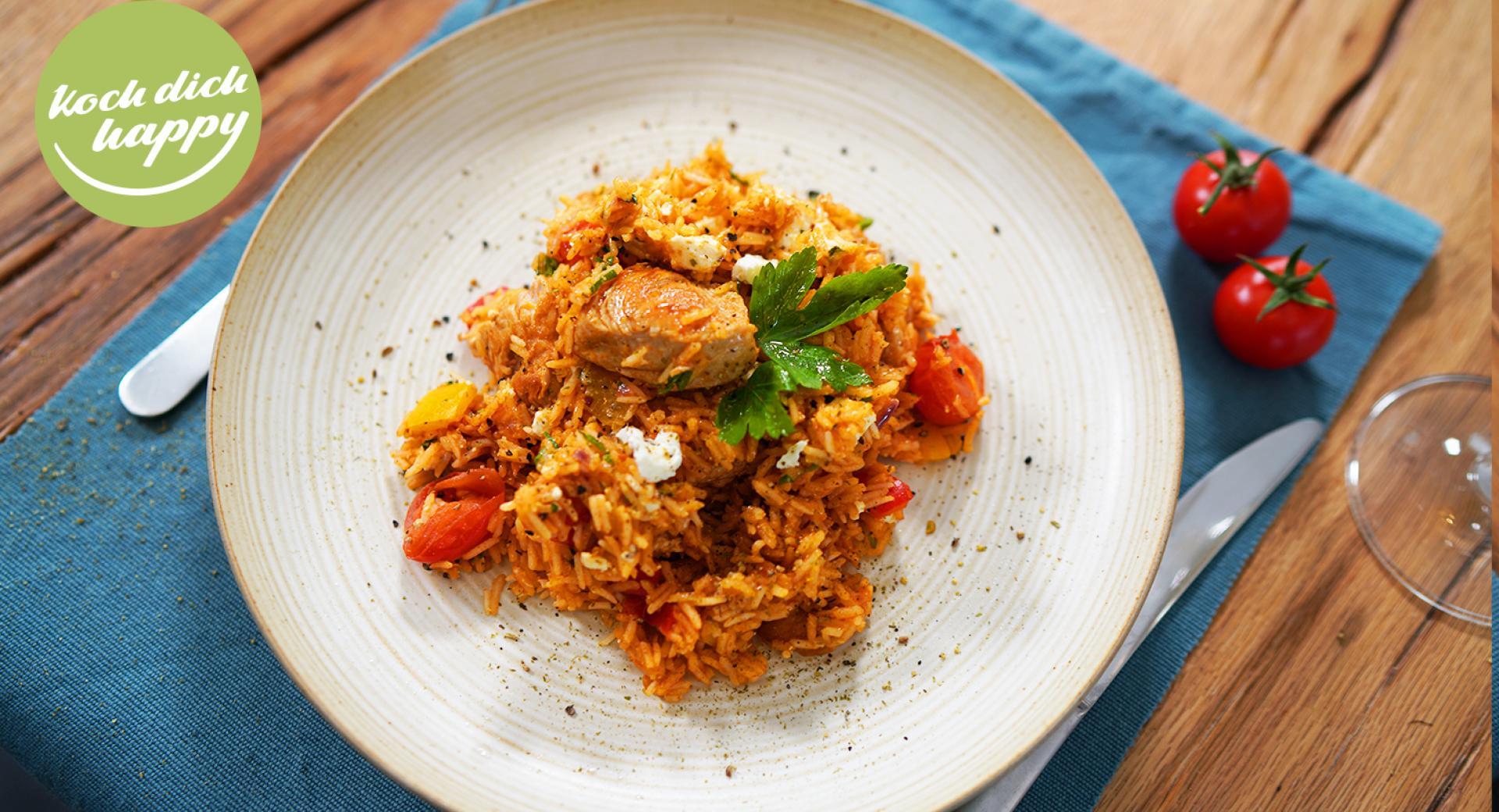 Mediterrane Reispfanne