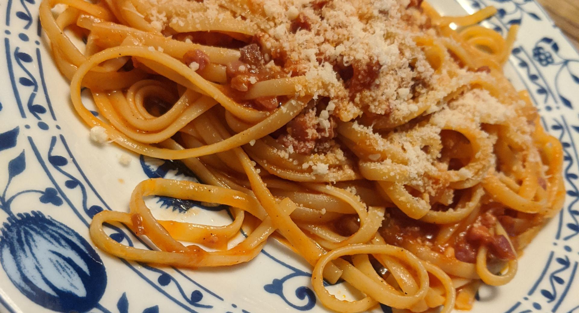 Spaghetti Amatriciana (einfache)