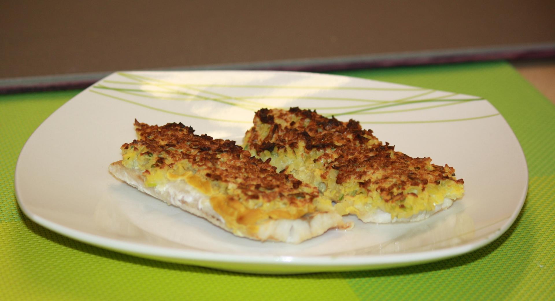 Fischfilet mit Kartoffelkruste