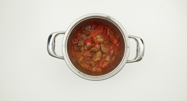 Secuquick abnehmen, alles gut durchrühren, nach Belieben mit Saucenbinder leicht binden und abschmecken.