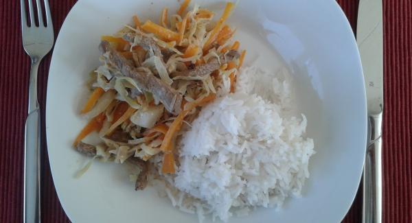 Karotten-Weißkohl-Geschnezeltes