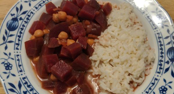 Rote Bete Kichererbsen Mit Reis
