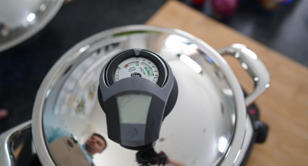Den Audiotherm 2x auf das Fleischsymbol drehen.