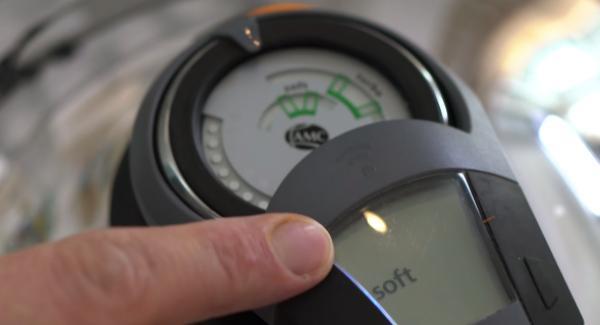 Den Audiotherm einschalten und ohne Zeitangabe zweimal auf das Softsymbol drehen.
