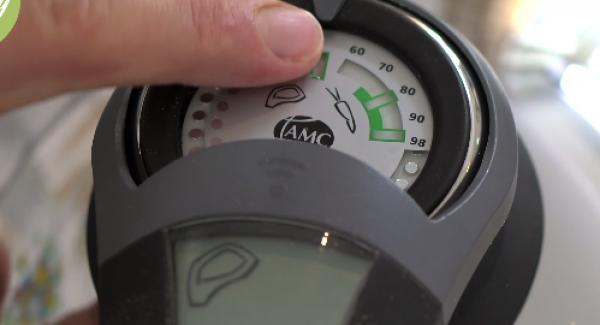 Den Audiotherm ohne Zeiteingabe zweimal auf das Fleischsymbol drehen.
