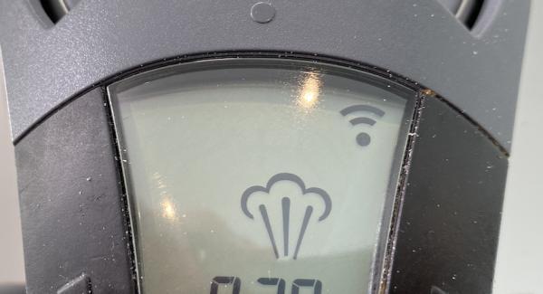 Den Audiotherm auf das Dampfsymbol drehen.