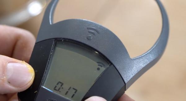 Den Audiotherm auf 17 Minuten einschalten