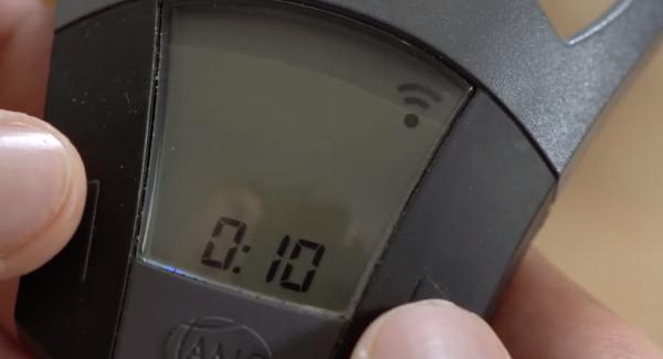 Den Audiotherm auf 10 Minuten einstellen