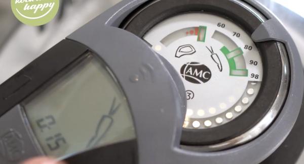 Den Audiotherm auf 15 Minuten einstellen und zweimal auf das Möhrensymbol drehen.