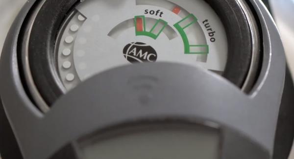 Warten bis das Softsymbol erreicht ist und der Audiotherm piept.