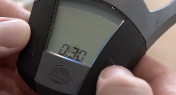 Den Audiotherm auf 30 Minuten einstellen.