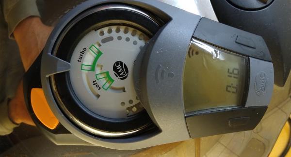 Den Secuquick aufsetzen und mit dem Audiotherm 16 min Turbo eingeben