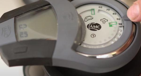 """Den Audiotherm einschalten und auf 10 Minuten einstellen. Anschließend den Audiotherm zweimal auf das """"Dampfsymbol"""" drehen."""