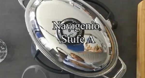 Navigenio auf Stufe A schalten und beim Audiotherm 15 Min. und auf 60 Grad stellen.