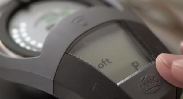 Den Audiotherm zweimal auf das Softsymbol drehen.