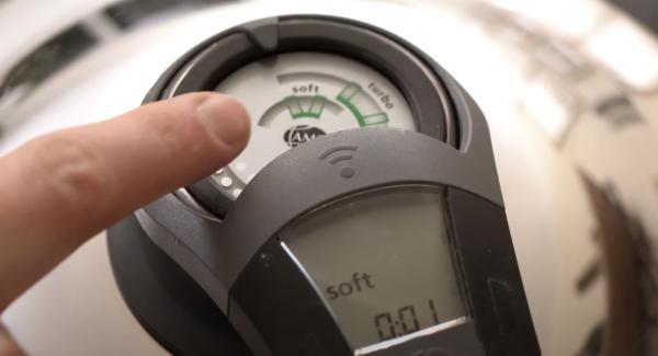 """Den Audiotherm einschalten und auf 1 Minute einstellen. Anschließend den Audiotherm zweimal auf das """"Softsymbol"""" drehen."""