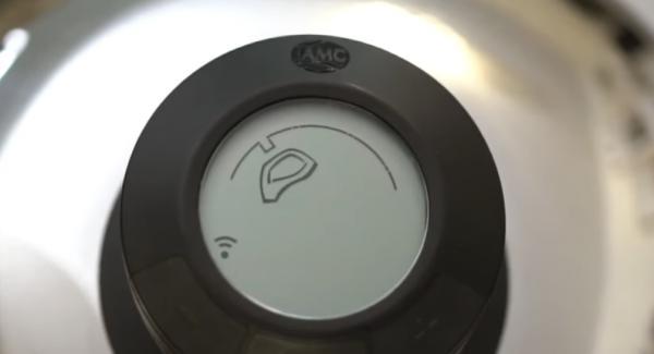 """Den Audiotherm einschalten und auf das """"Fleischsymbol"""" einstellen."""