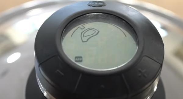 Den Audiotherm auf das Fleischsymbol einstellen.