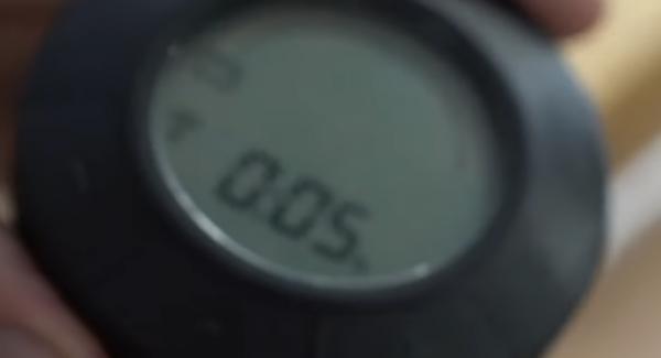"""Den Audiotherm auf das """"Backofensymbol"""" für 5 Min einstellen."""