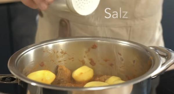 Alles gut mit Salz würzen.