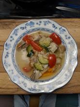 Würzige Fischsuppe