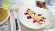 Crêpes mit Vanille Pudding