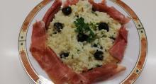 Mediterranes Risotto mit Serranoschinken